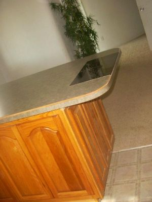 Laminate Island Countertop : ... -Pictures/Laminate Island Countertop - Custom Tile Hot-Pad Inserted