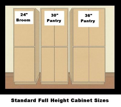 Kitchen Pantry Cabinet Sizes