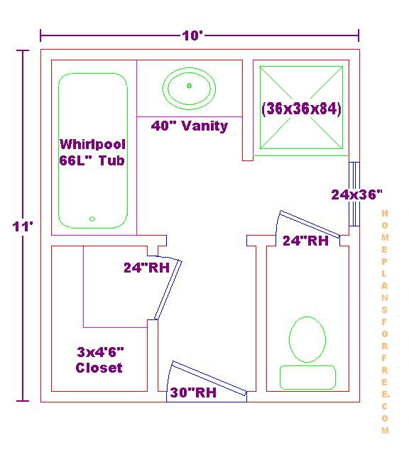 bath ideas 10x11 floor plan