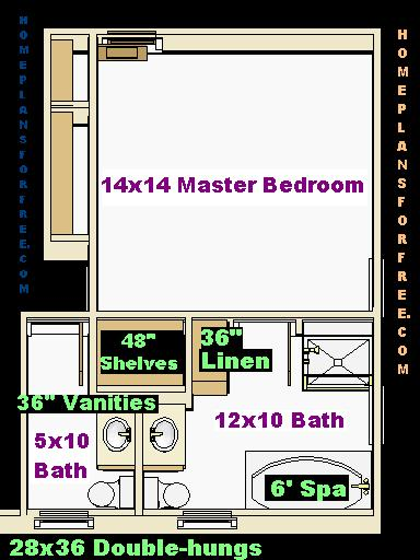 Free 10x12 and 5x10 Bathroom Design Ideas Floor Plan with ...