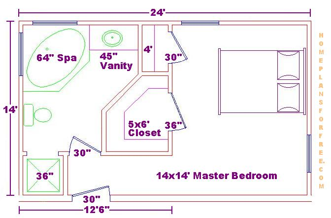 Master Bedroom Plans master suite addition plans | master bedroom addition plans (18ft