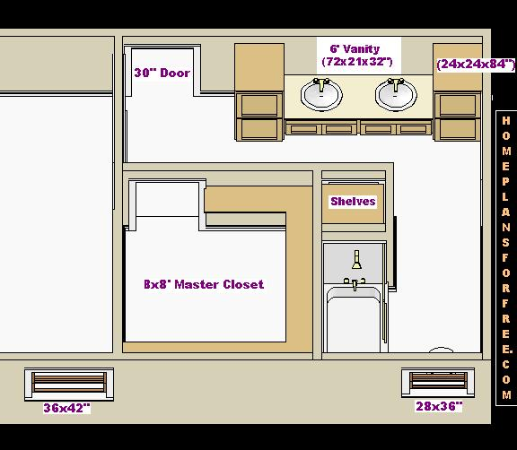 14x30 Master Bedroom And Bathroom Free Floor Plan With