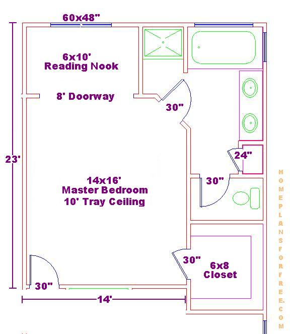 Bath And Walk In Closet 14x16 Master Bedroom Floor Plan