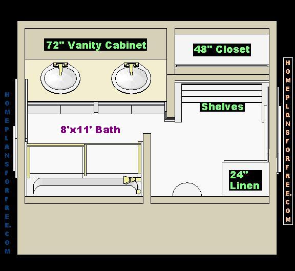 Double Vanity Bathroom Floor Plans free floor plan design ideas for a new 8x11 size bathroom