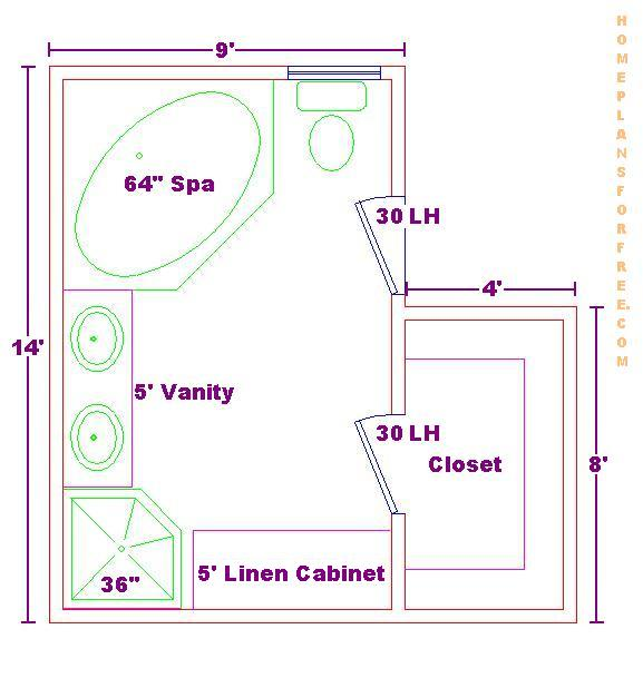 9x14 Bathroom Floor Plan