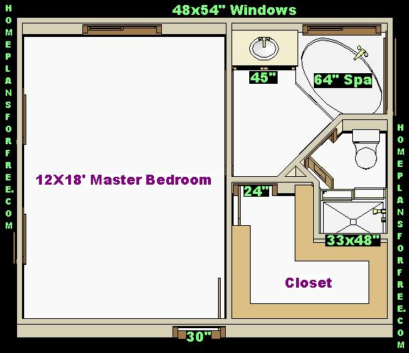 Free 18x22 Master Bedroom Addition Floor Plan with Master Bath and ...