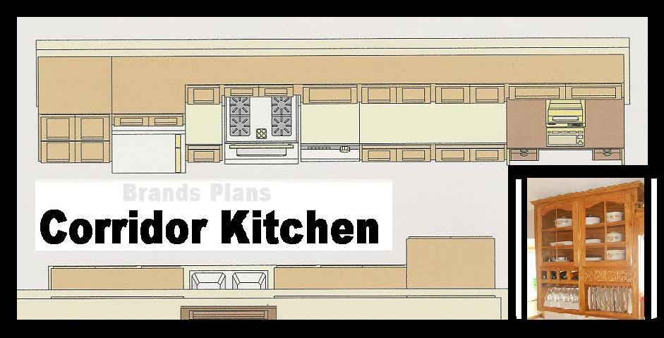 One Wall Kitchen Floor Plans Small Design Single