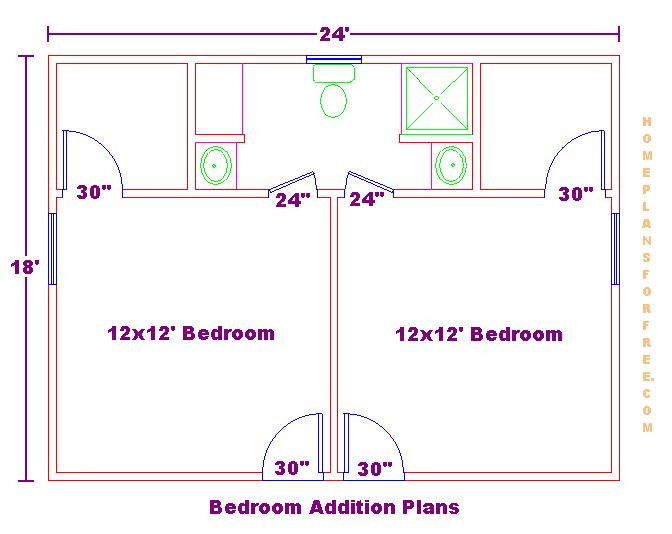 Bedroom Addition 18x24 Floor Plan